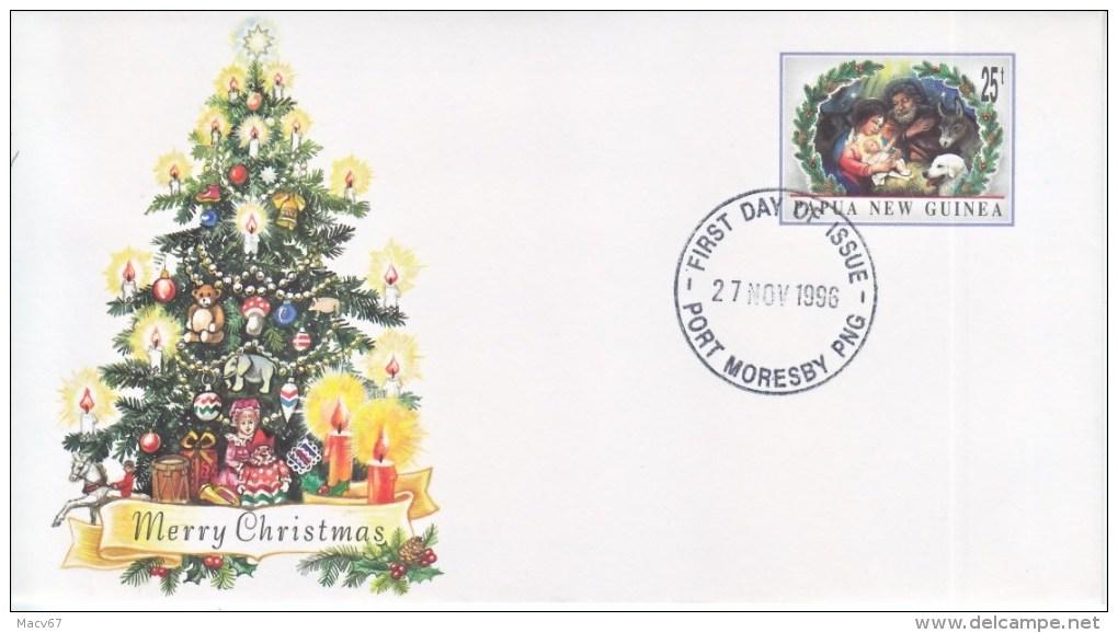 PAPUA  NEW  GUINEA   FDC  CHRISTMAS  COVER       STATIONARY - Papua New Guinea