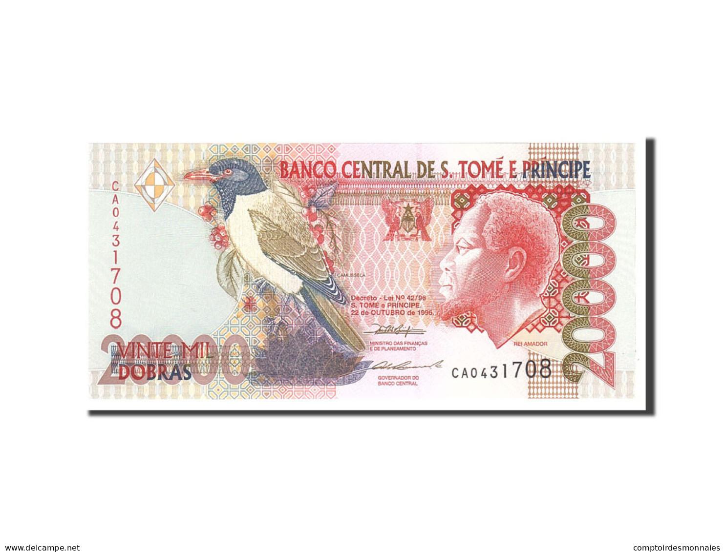 Saint Thomas And Prince, 20,000 Dobras, 1996, KM:67a, 1996-10-22, NEUF - Sao Tomé Et Principe
