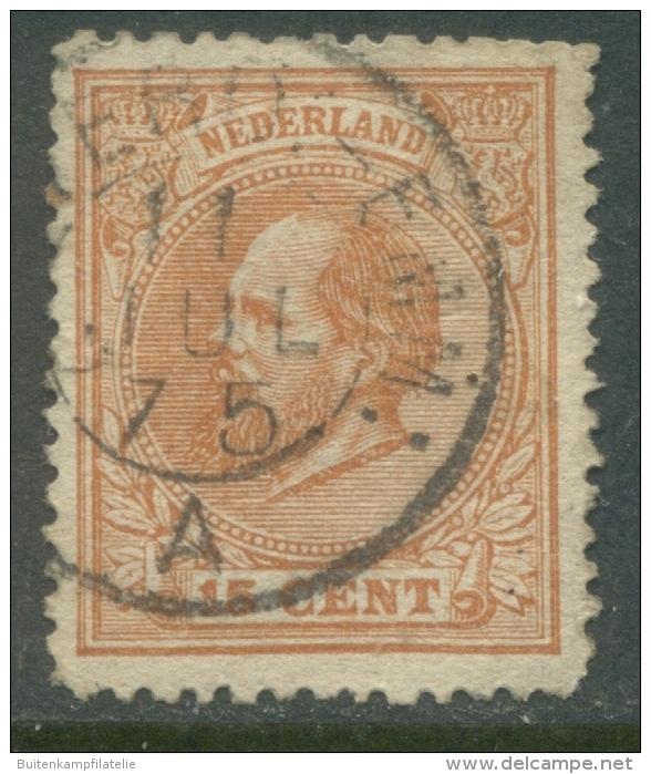 Kleinrondstempel Amsterd:-Emm: A Op Nvph 23C - Periode 1852-1890 (Willem III)