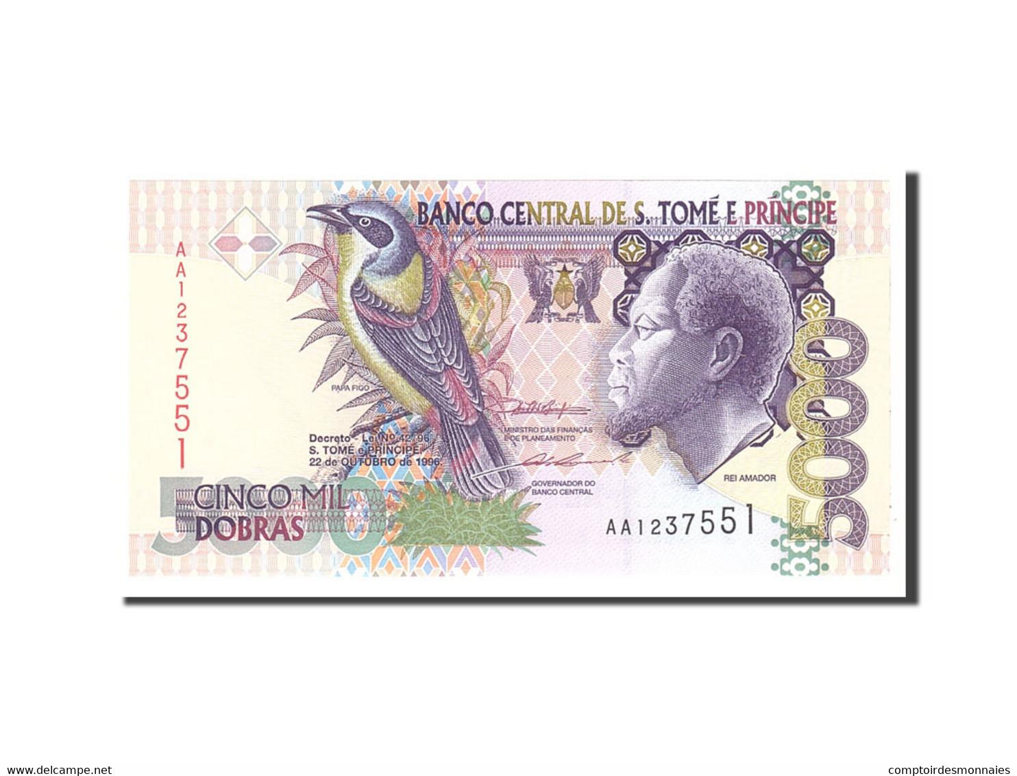 Saint Thomas And Prince, 5000 Dobras, 1996, KM:65a, 1996-10-22, NEUF - Sao Tomé Et Principe