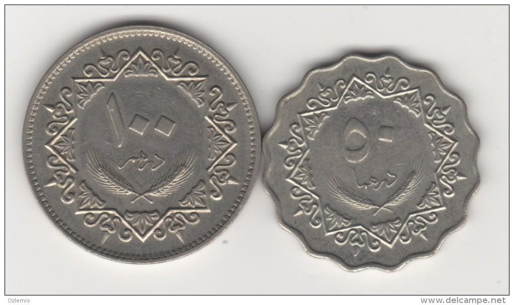 LIBYA 1979 50 AND 100 DIRHAMS -HORSE MAN !!!!!!! - Libye
