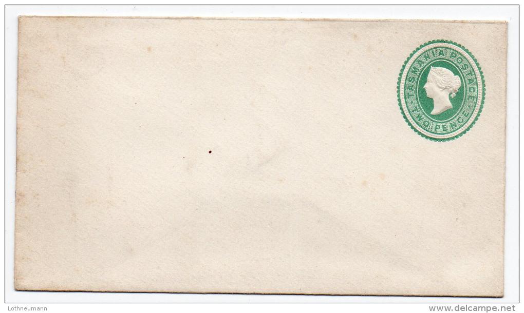 Tasmanien 1883: Two Pence Green  Unused Stationary Cover; Ascher No. 1 - 1853-1912 Tasmania