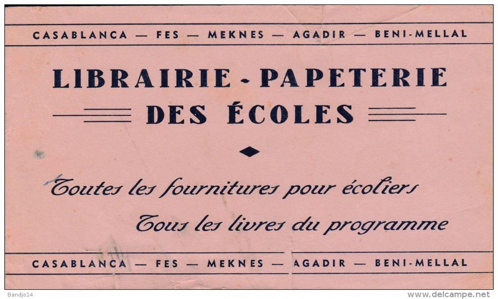 Papeterie Des écoles  Casablanca  - Maroc  - Format  12,5 X 21,5 Cm 2 Scan - Papeterie