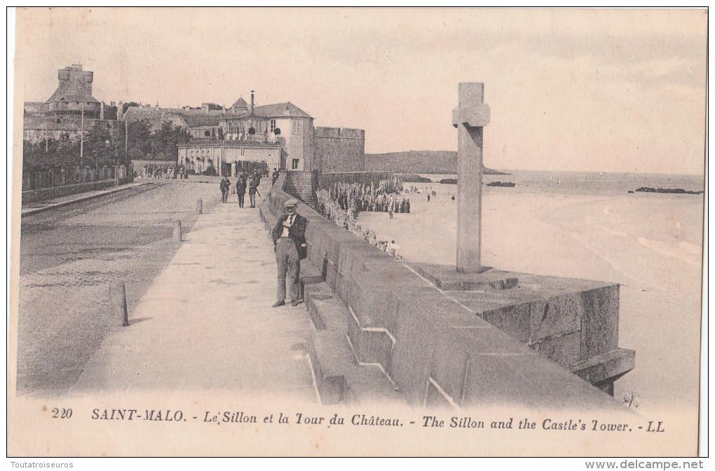 SAINT MALO  ( 35 ) Le Sillon Et La Tour Du Château ( Port Gratuit ) - Saint Malo
