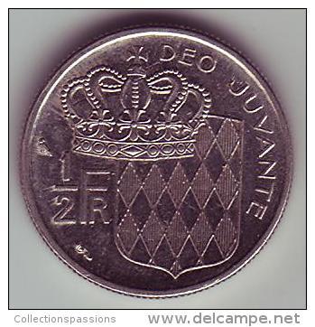 - MONACO - Rainier III Prince De Monaco - 1/2 Franc. 1965 - - Monaco