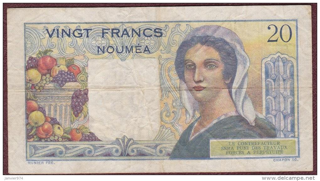 20 Francs NOUVELLE CALEDONIE - NOUMEA - Banque De L'Indochine. Serie C.106 - Nouvelle-Calédonie 1873-1985