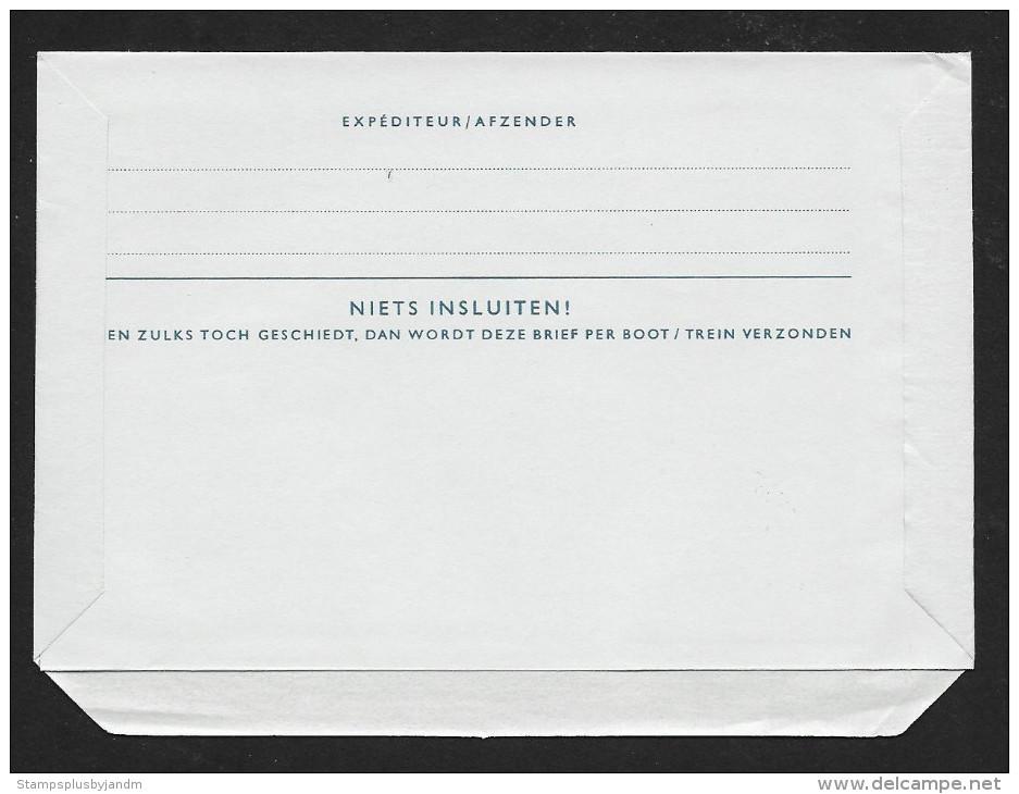 NETHERLANDS Aerogramme 30c Queen 1953 Copenhagen Cancel! STK#X20905 - Postal Stationery