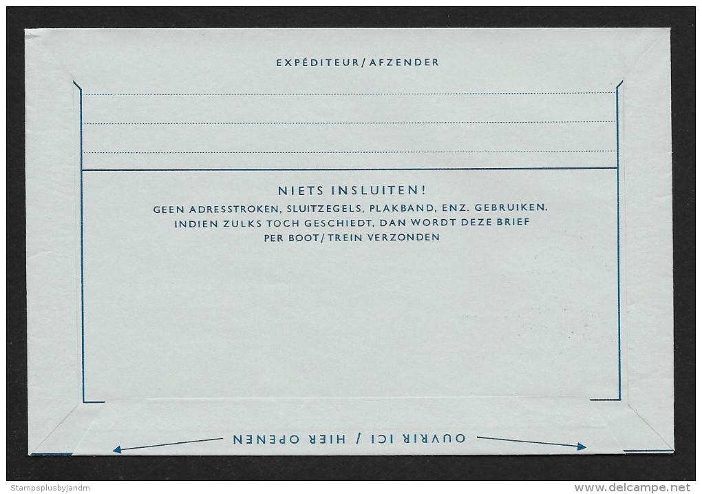 NETHERLANDS Aerogramme 30¢ Uprated To 40¢ Queen 1964 Copenhagen Cancel! STK#X20906 - Postal Stationery