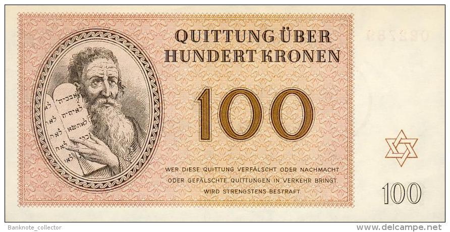 Deutschland, Germany - Set 1 - 100 Kronen, Lagergeld - KZ Theresienstadt, 1943, UNC ! - [ 4] 1933-1945: Derde Rijk