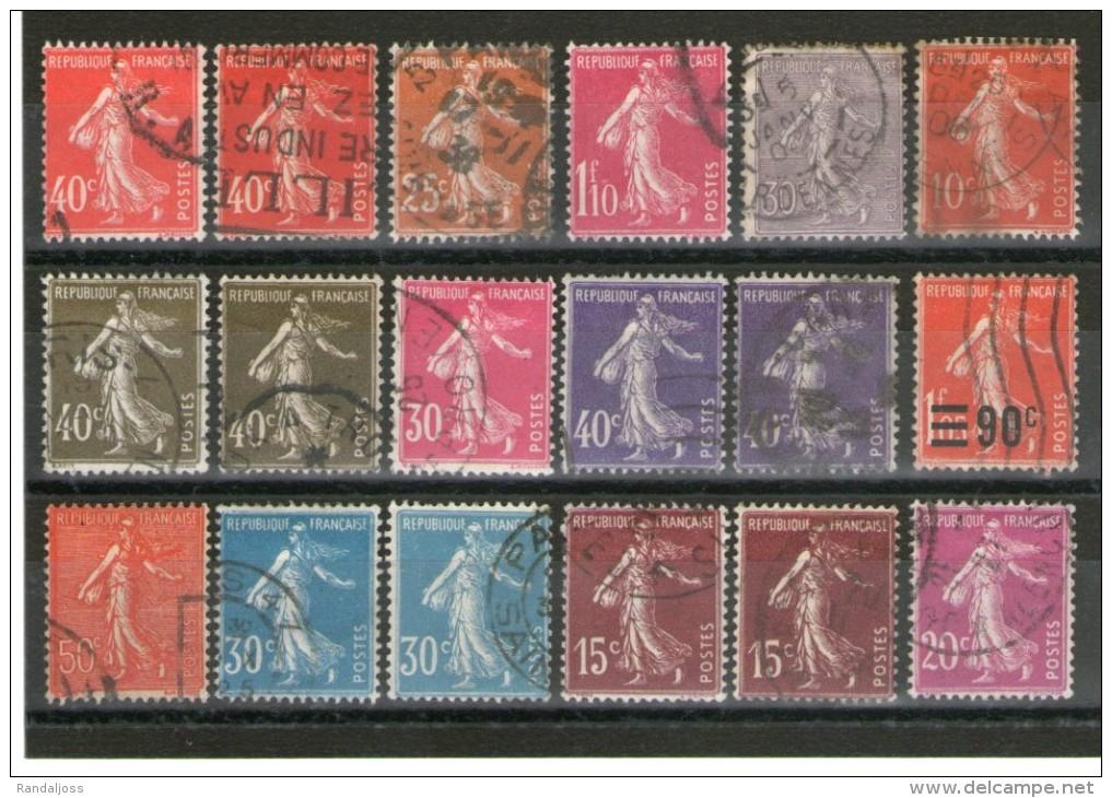 Lot Semeuses Oblitérés_avec De Belles Nuances - 1906-38 Semeuse Camée