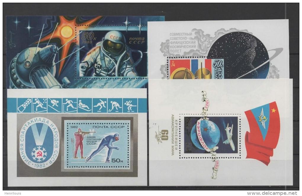 RUSSIE  - URSS - Blocs-feuilletsneufs **  De 1980/ 1983   ( Ref 3295 ) - 1923-1991 USSR