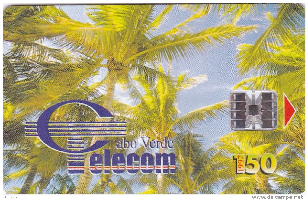 Cape Verde,CPV -17, Palm Trees - Coqueiros II, 2 Scans. - Cap Vert