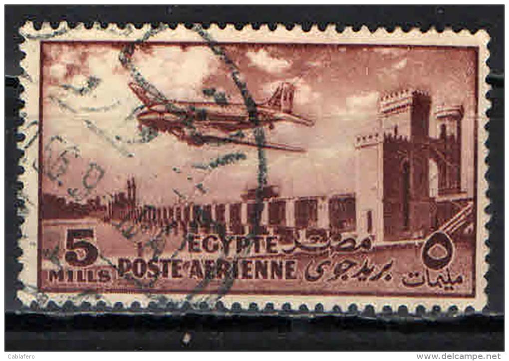 EGITTO - 1953 - AEREO SULLA DIGA DEL DELTA - USATO - Posta Aerea