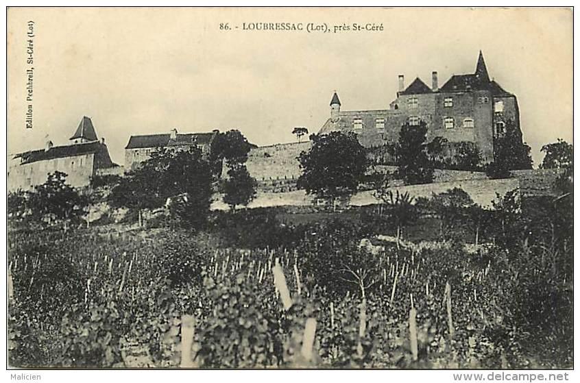 - Lot - Ref - 229 -  Loubressac Pres Saint Cere - St Cere - Le Chateau - Vignes - Carte Bon Etat - - Autres Communes