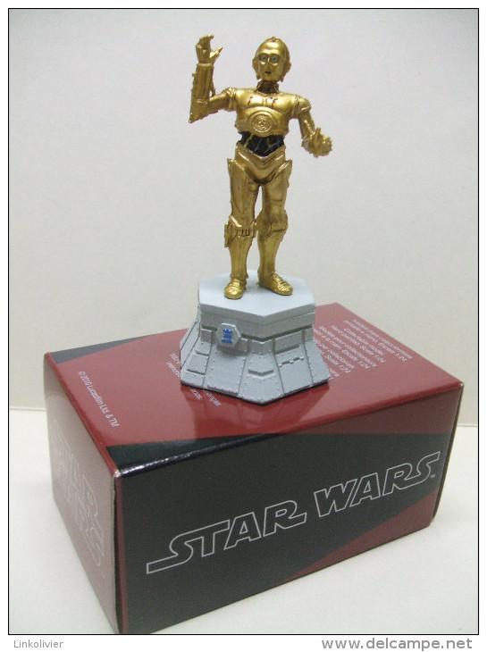 C3PO Figurine En Plomb STAR WARS Pièce De Jeu D´échecs ALTAYA :  Tour Blanche - First Release (1977-1985)