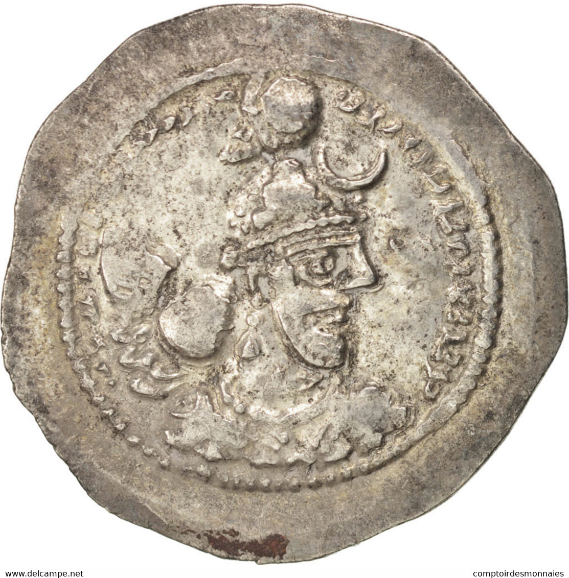 Sassanides, Yazdgard Ier (390-420), Drachme, Göbl 147 - Orientales