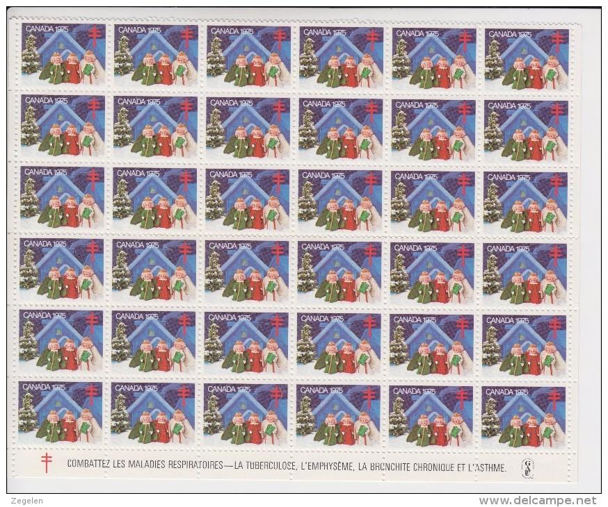 Canada Kerstvignetten 1975 36 Stuks ** - Ongebruikt