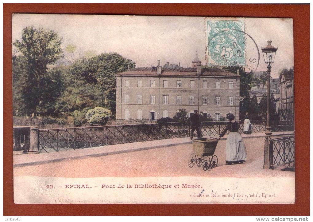 1 Cpa 88. Epinal. Pont De La Bibliotheque Et Musée - Epinal