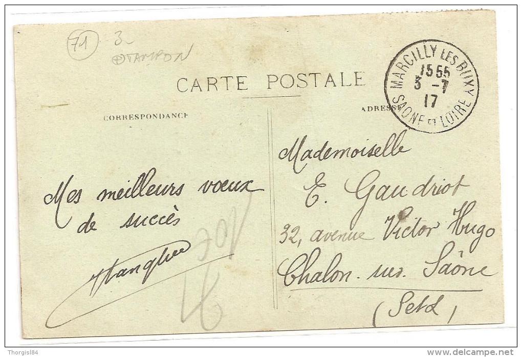 § PROMO - TAMPON § 71 - MARCILLY LES BUXY Et Montagne Du Martrat écrite Timbrée - France