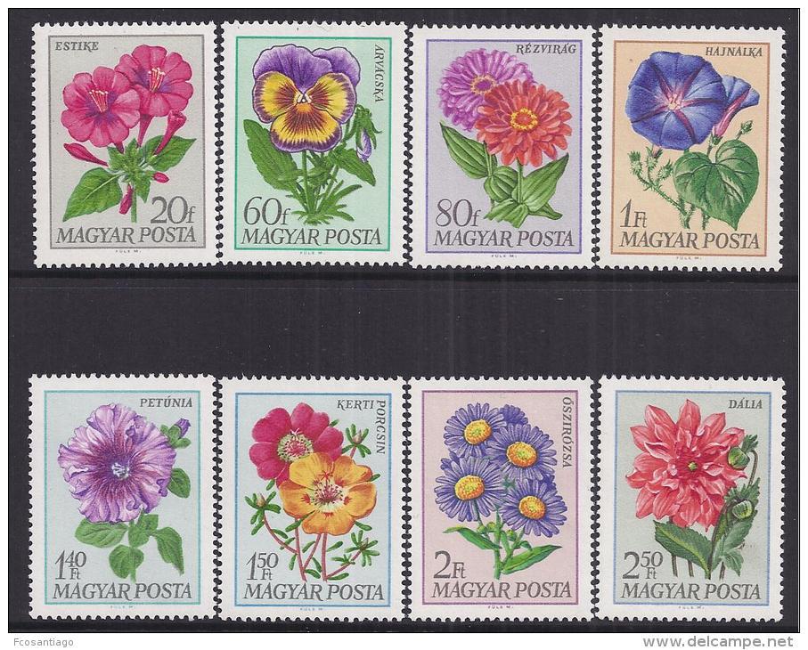 FLORES - HUNGRIA 1966 - Yvert #1993/2000 - MNH ** - Vegetales