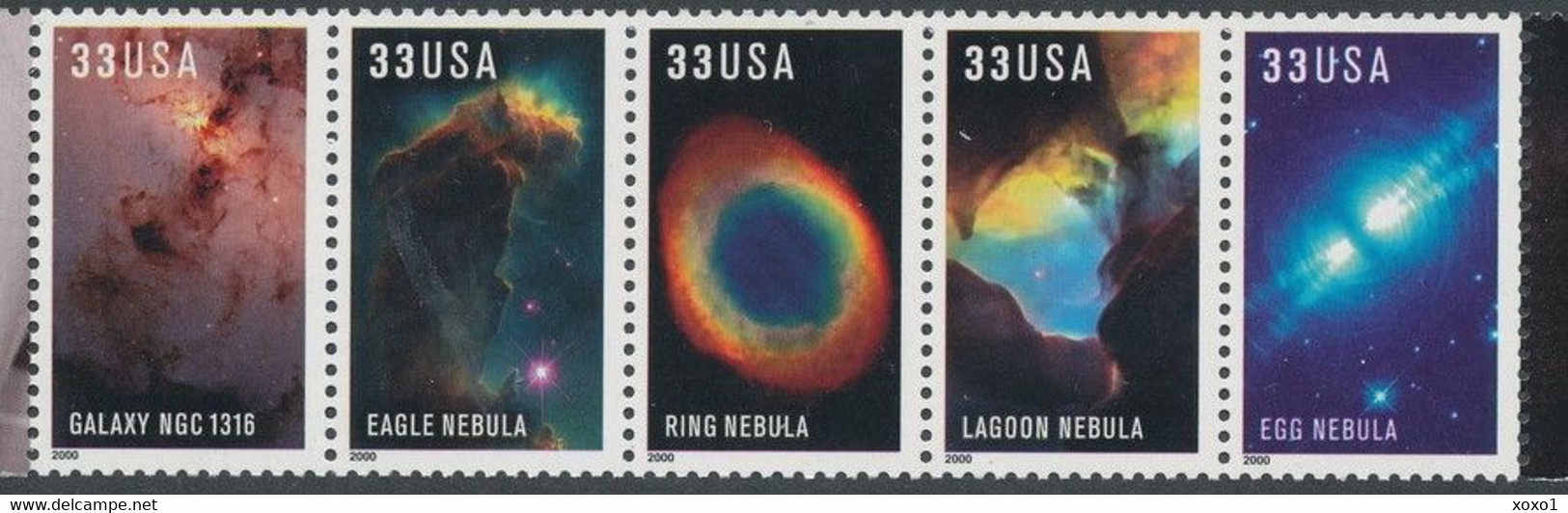 USA 2000 Space, Hubble, Astronomy 5v MNH** - Astronomy