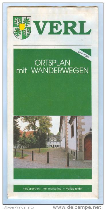 Landkarte Stadtplan City Map Plan Verl Ca. 1993 Ostwestfalen Deutschland Ortsplan NRW Deutschland Plan De Ville Germany - Maps Of The World