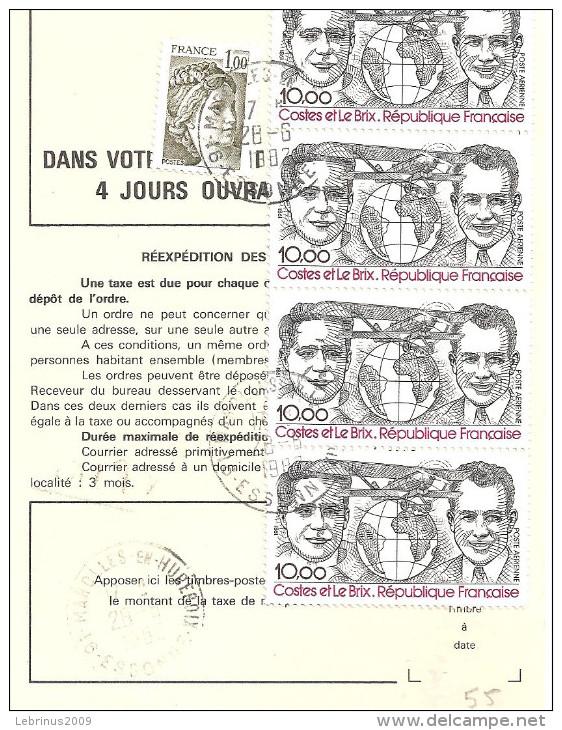 ORDRE DE REEXPEDITON - PA 55 - Marcophilie (Lettres)