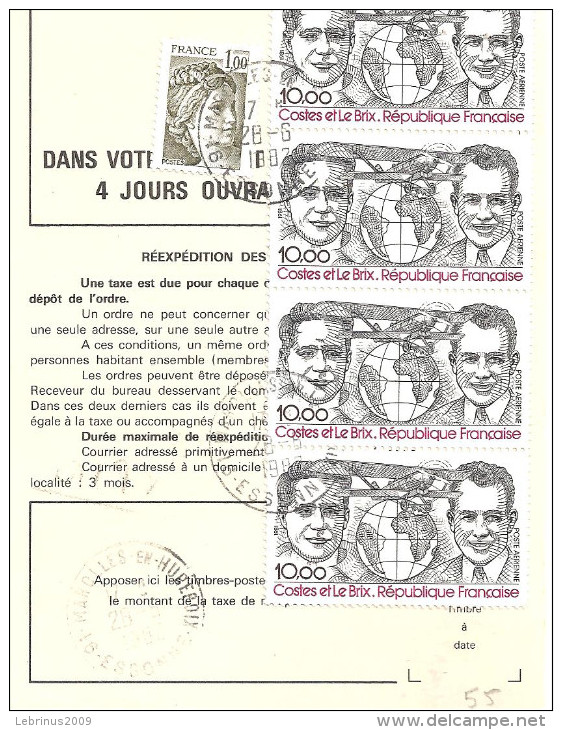 ORDRE DE REEXPEDITON - PA 55 - 1961-....
