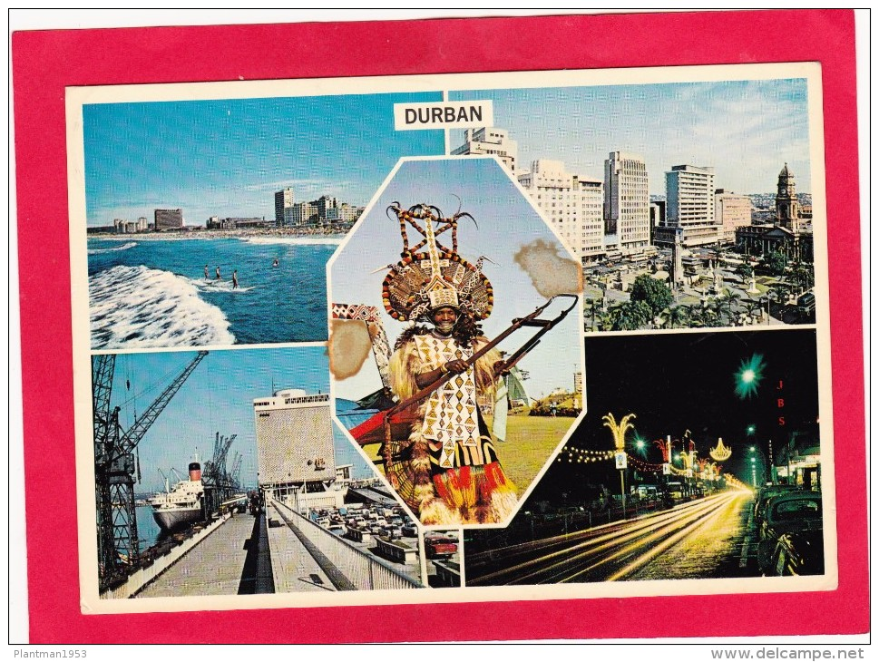 Multi View Card Of; Durban,South Africa,Posted With Stamp,Z6. - South Africa