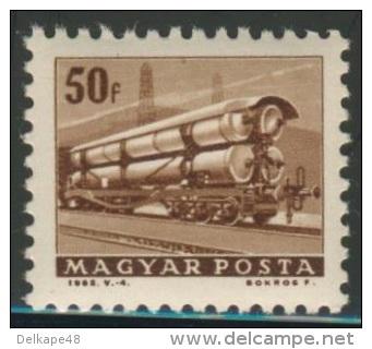 Hungary Ungarn 1963 Mi 1928 A YT 1559 * Railway Truck With Gas Cylinders / Erdgas-Eisenbahnwaggon - Treinen