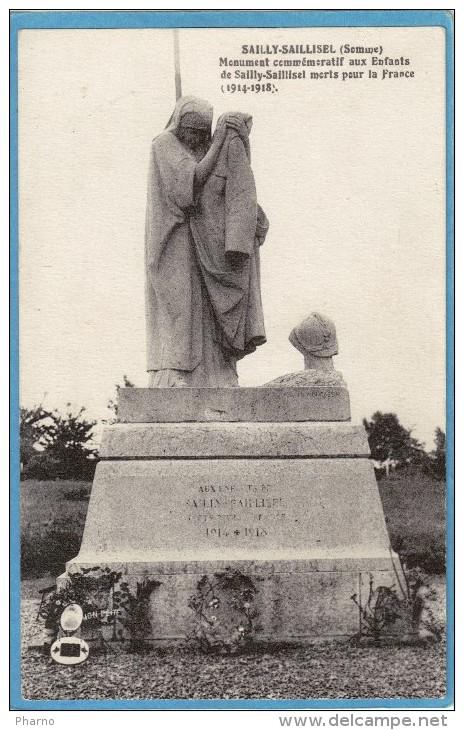 80 Somme Sailly Saillisel Par Combles Monument Commemoratif Sculpteur Moncassin - Autres Communes