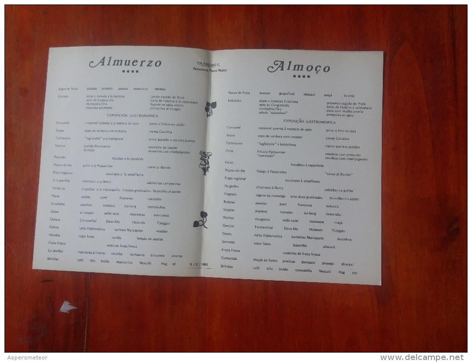 LOTE DE 9 MENÚ DEL BARCO EUGENIO C   CRUCERO  OHL - Menus