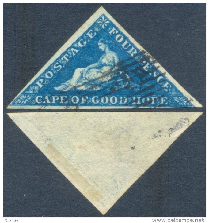 Cape Of Good Hope 1853. 4d Blue, SACC 6a, SG 6a. - Südafrika (...-1961)