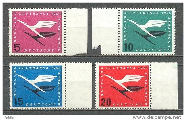 1955 GERMANY LUFTHANSA MICHEL: 205-208 MNH ** - [7] Federal Republic