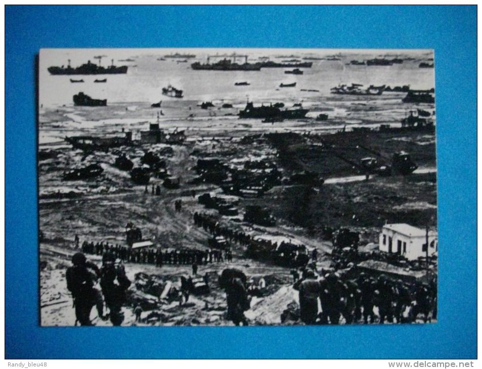 PLAGES DU DEBARQUEMENT  -  Juin 1944  -  Normandie  -  Les Troupes Américaines Poursuivent Leur Débarquement - War 1939-45