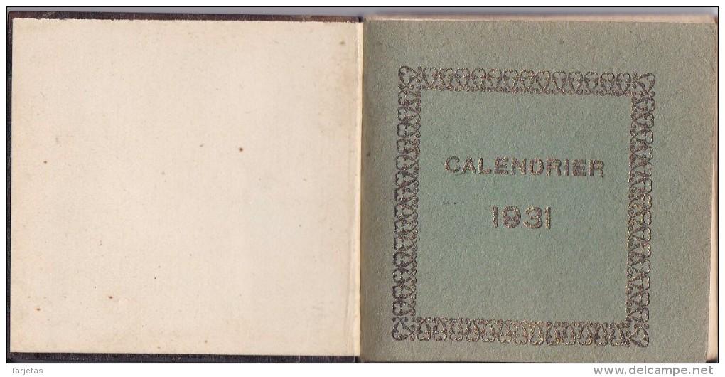 CALENDARIO SANTORAL DEL AÑO 1931 (CALENDRIER-CALENDAR) CALENDRIER 1931 - Calendarios
