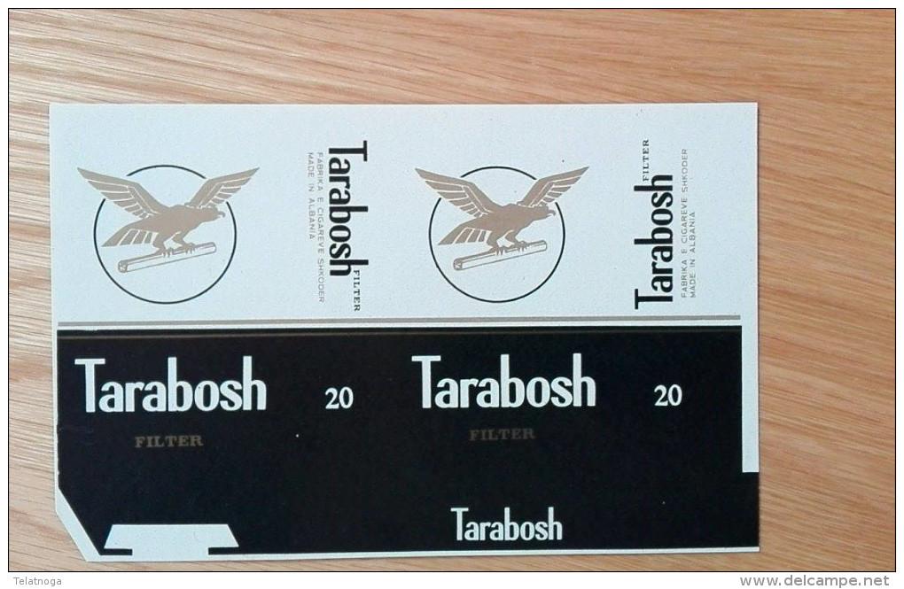 Old Empty Flattened Cigarette Pack TARABOSH - Albania 1980´s - Schnupftabakdosen (leer)