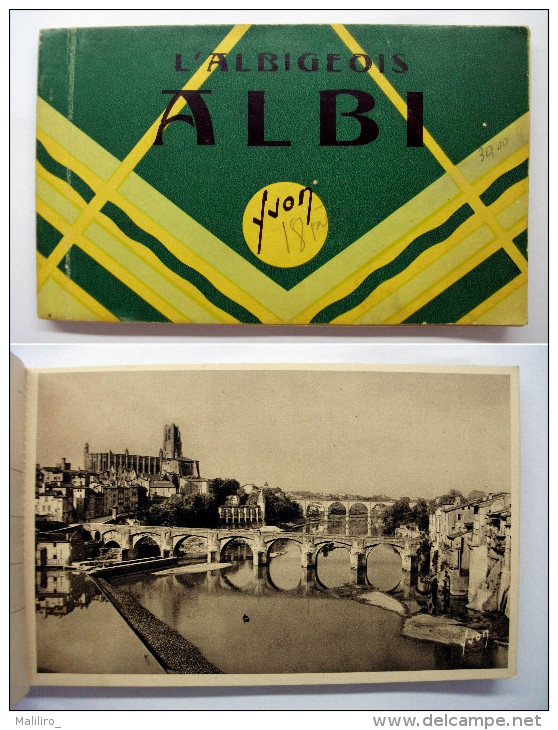 81 - Carnet 18 Cartes ALBI  L´Albigeois - 18 Sur 20 - Albi