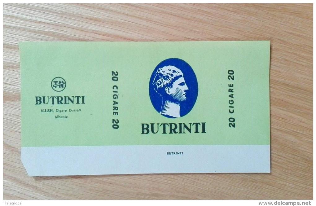 Old Empty Flattened Cigarette Pack BUTRINTI - Albania 1960´s - Schnupftabakdosen (leer)
