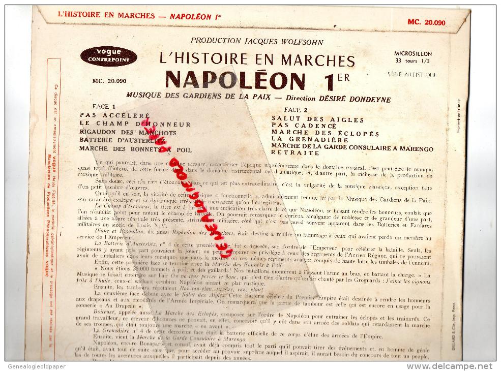 NAPOLEON 1ER-EMPIRE- L' HISTOIRE EN MARCHES-RIGAUDON DES MANCHOTS-BATTERIE AUSTERLITZ-BONNETS A POIL- MARENGO - Discos De Vinilo