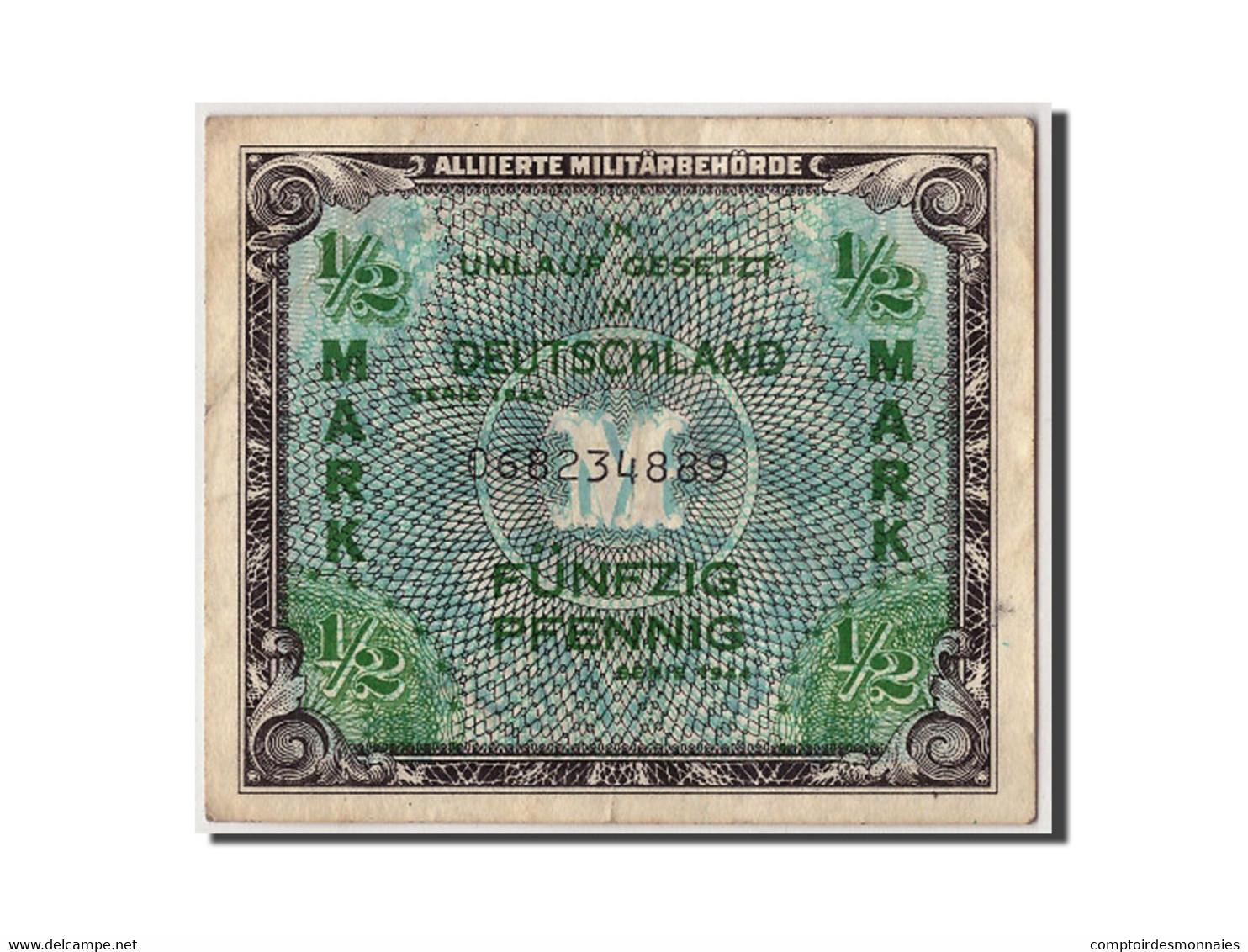 Allemagne, 1/2 Mark, 1944, KM:191a, Non Daté, TB+ - 1945-1949: Alliierte Besatzung