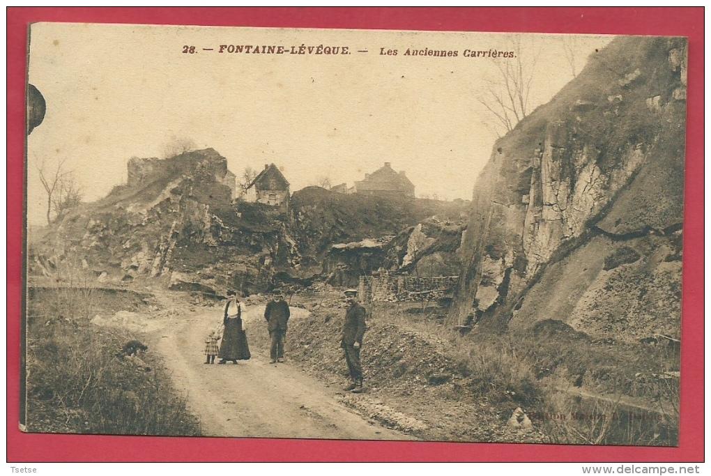 Fontaine-l'Evêque - Les Anciennes Carrières - Feldpost 1917 ( Voir Verso ) - Fontaine-l'Evêque