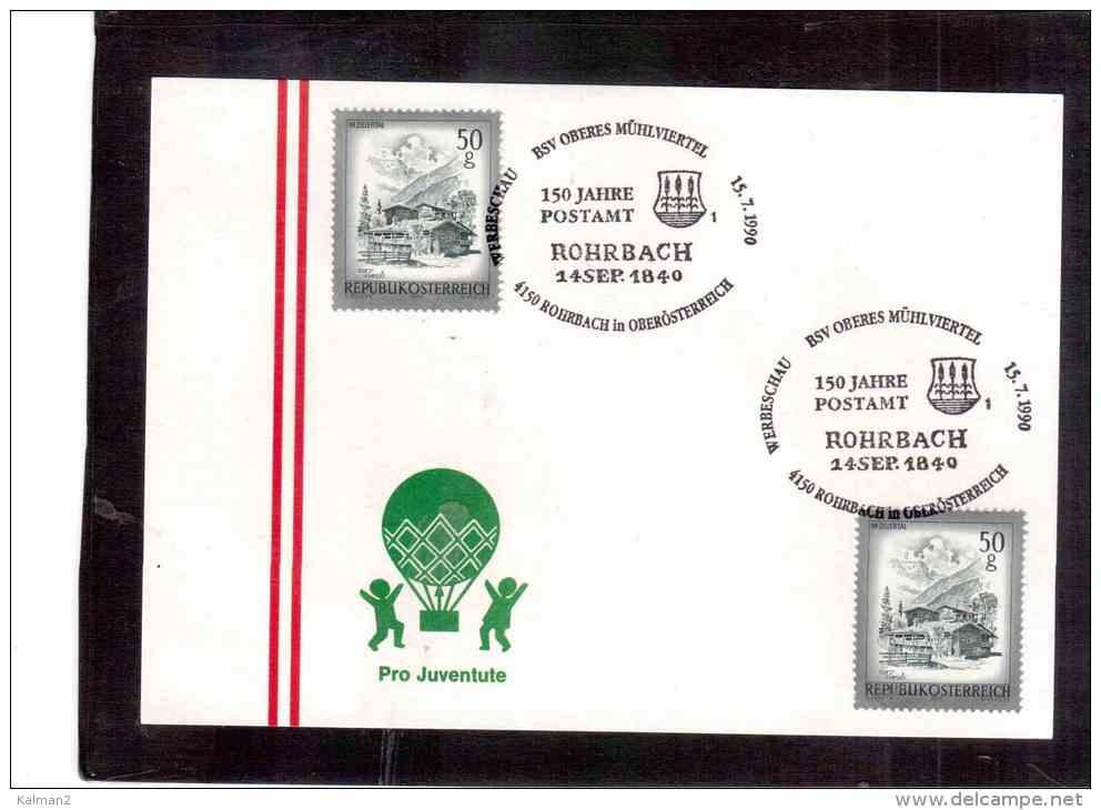 AU381   -   ROHRBACH  15.7.1990     /     150 JAHRE POSTAMT - Post