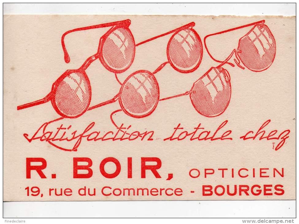 Buvard - Opticien, R. Boir, Bourges - Buvards, Protège-cahiers Illustrés
