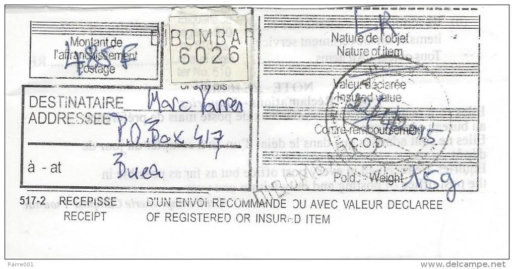 Cameroun Cameroon 2015 Dibombari Inde1 Buffalo Registered Domestic Cover - Kameroen (1960-...)