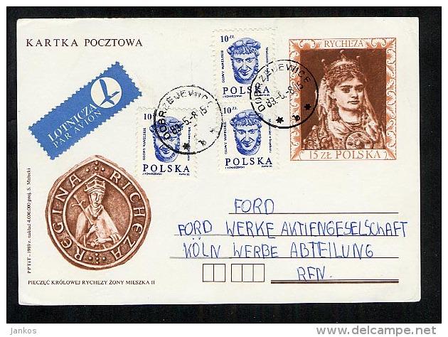 Poland Postal Stationery Postcard Used 1989 Dobrzejewice (A136) - Stamped Stationery