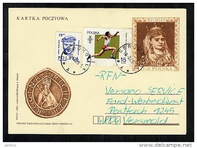 Poland Postal Stationery Postcard Used 1989 Serokomka (A137) - Stamped Stationery