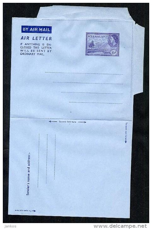 Nyasaland Postal Stationery Aerogramme Air Letter Unused (A145) - Nyasaland (1907-1953)