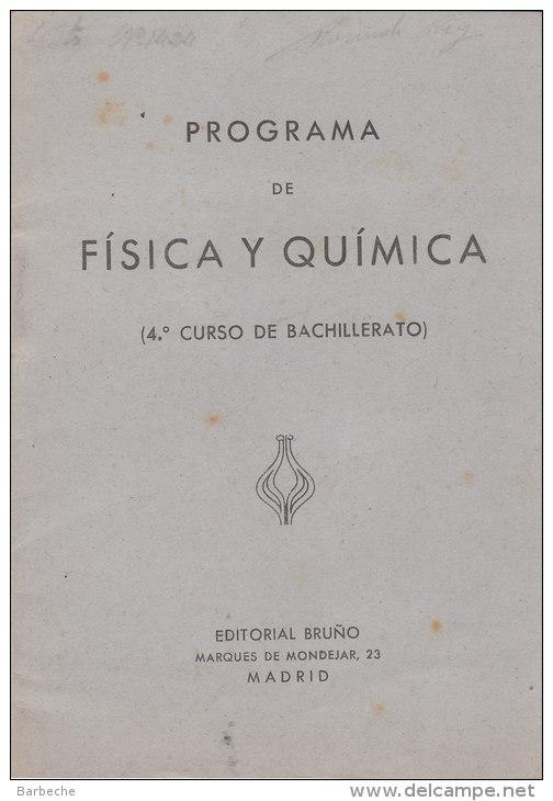 PROGRAMA  De FISICA Y QUIMICA - Programas