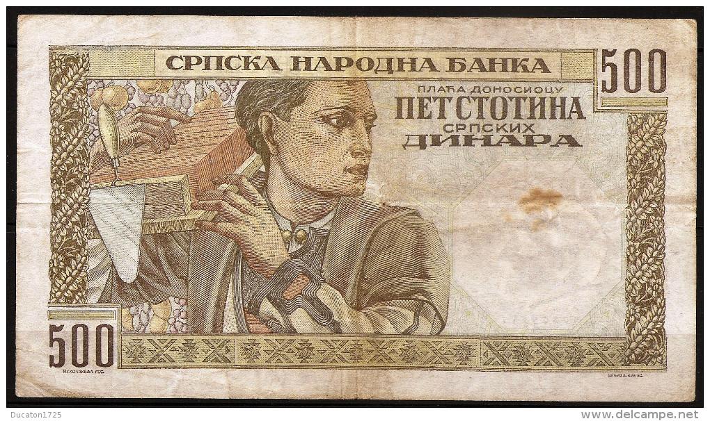 500 Dinara 01/10/1941. Serbia/ Serbie. - Serbie